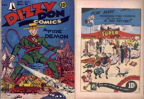 Dizzy Don 4 American F. E. Howard issue front and back.