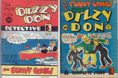 Covers for The Funny Comics No. 3 and No. 6