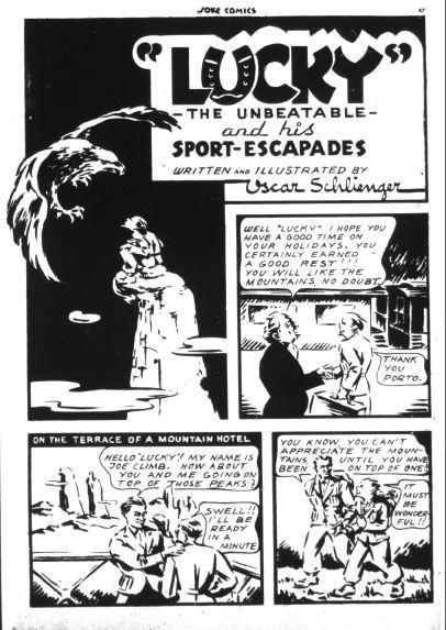 Lucky splash page from Joke Comics No. 3 by Oscar Schlienger