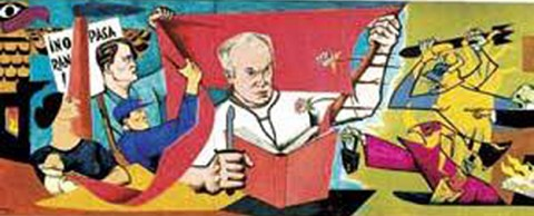 Norman Bethune mural by Avrom Yanovsky