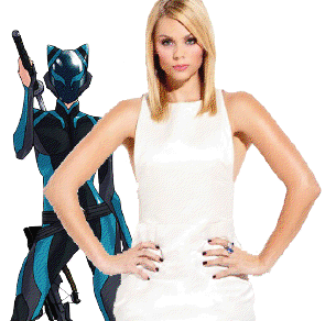 Laura Vandervoort is Blue Fox