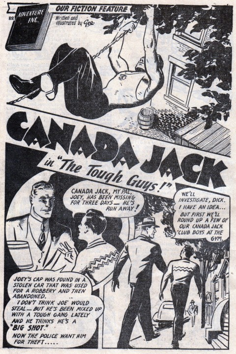 Canada Jack splash from Canadian Heroes Comics Vol. 4, No. 1 by George M. Rae