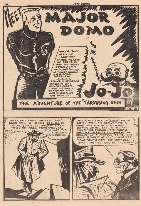 Major Domo splash from Joke Comics 21 by Avrom Yanovsky