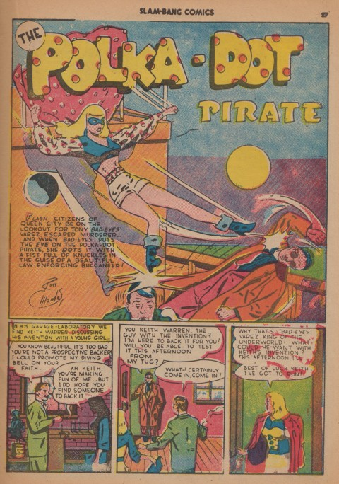 Polka Dot Pirate splash from Slam Bang Comics No. 7 by Ross Mendez