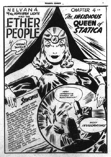 Nelvana splash from Triumph Comics No. 27 by Dingle
