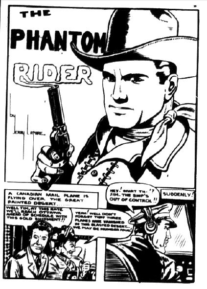 Phantom Rider splash from Wow Comics No. 23 by Jerry Lazare
