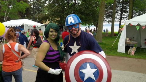 Celebrate Barrie - Captain America and She-Hulk