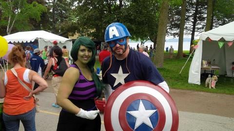 Celebrate Barrie - Captain America and She-Hulk