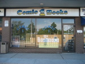 Comic 1 Books storefront. Image courtesy of clearvisionstudios.net