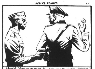 "From Active Comics No. 11 ""He Didn't Like the Army"""