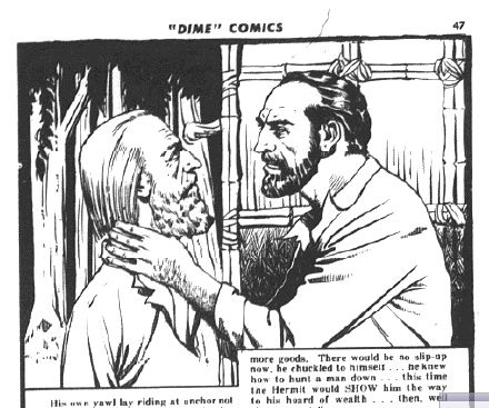 "From Dime Comics No. 7 ""The Curse of the Crawling Death"""