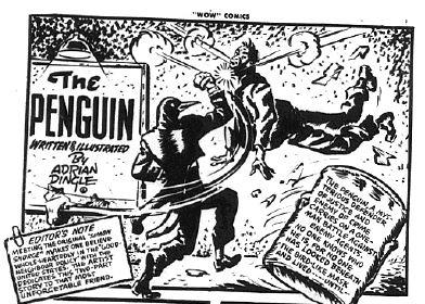 Adrian Dingle splash panel from Wow Comics V. 1 No. 28