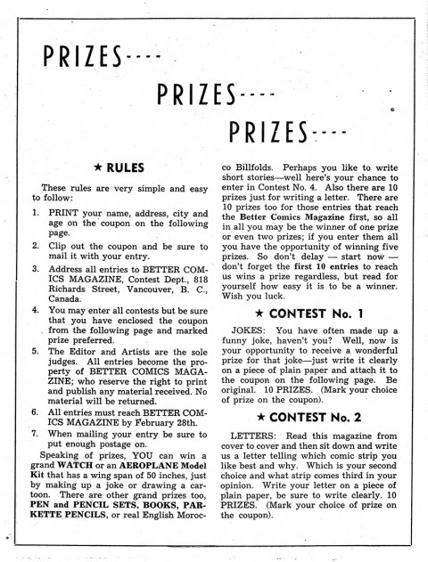 First page of the contest from Better Comics No. 1
