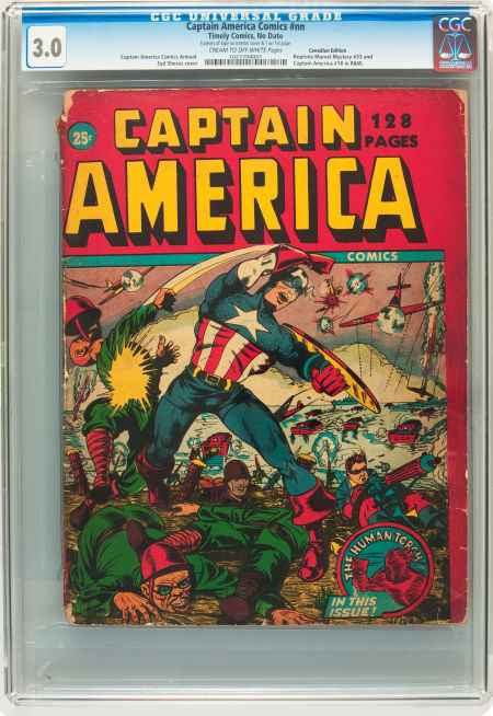 128 pg. Canadian Timely Captain America Giant from 1943