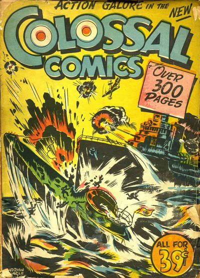Bell's Colossal Comics remainder repack from 1945 -one of two covers