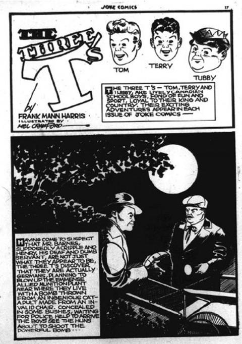 Three T's splash from Joke Comics No. 2