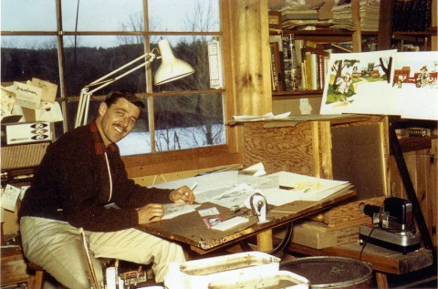 Mel Crawford in his studio, early sixties