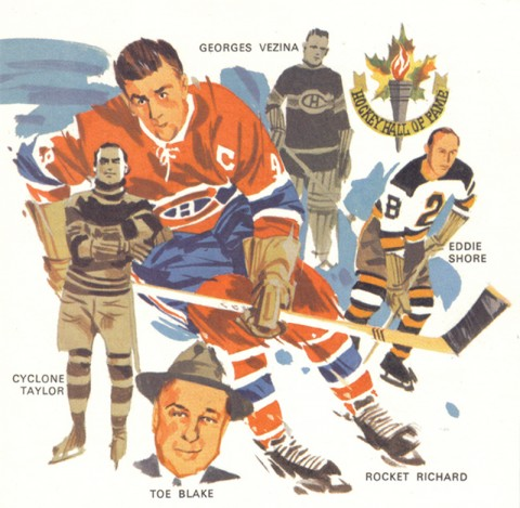Tremblay illustration from his history of hockey book