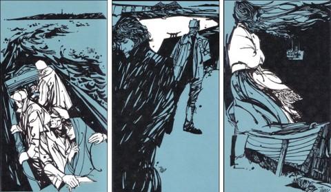 Three illustrations from Harvey H. Smith's Shelter Bay.