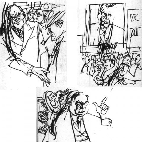 Sketches by Jack Tremblay from Weekend Magazine, Sept. 1963