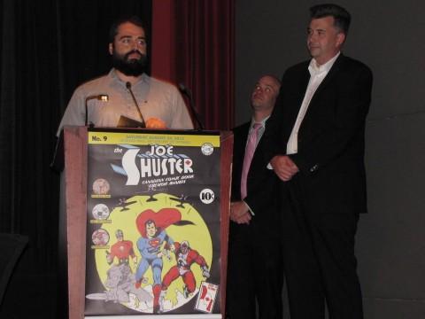 Brahm Wiseman accepting Harry Kremer Award