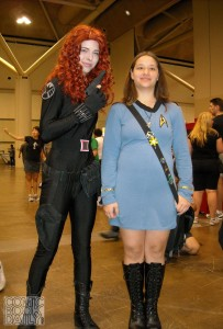 Black Widow and Star Trek girl