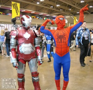 Canadian Iron Man and Spider-Man