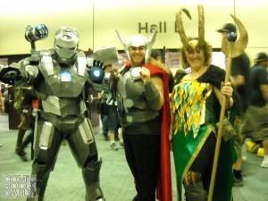 Iron Man, Thor and Loki