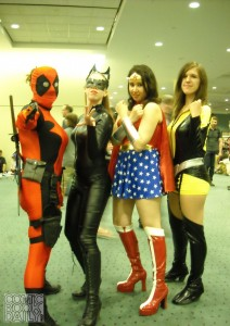 Lady Deadpool, Catwoman, Wonder Woman and Kitty Pryde