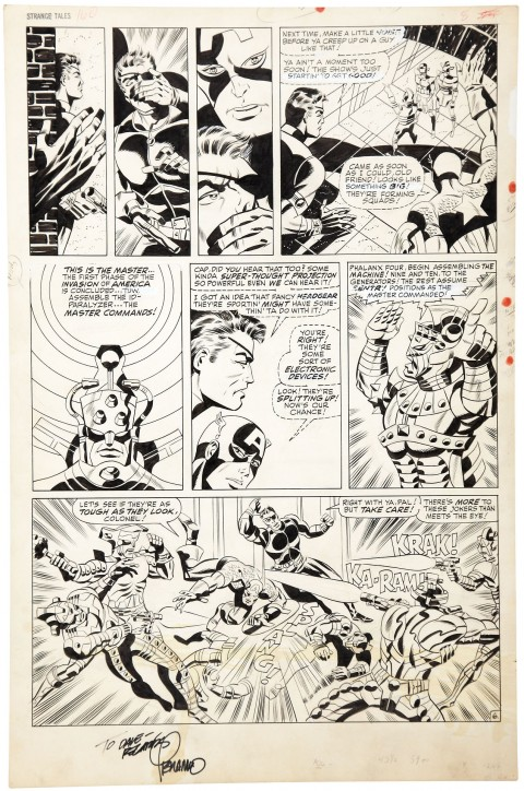 Strange Tales issue 160 page 8 by Jim Steranko. Source.