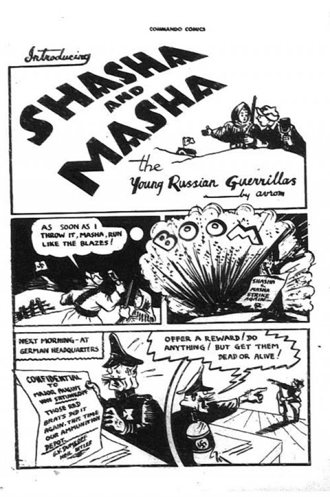 Sasha and Masha one-shot strip from Commando Comics No. 13