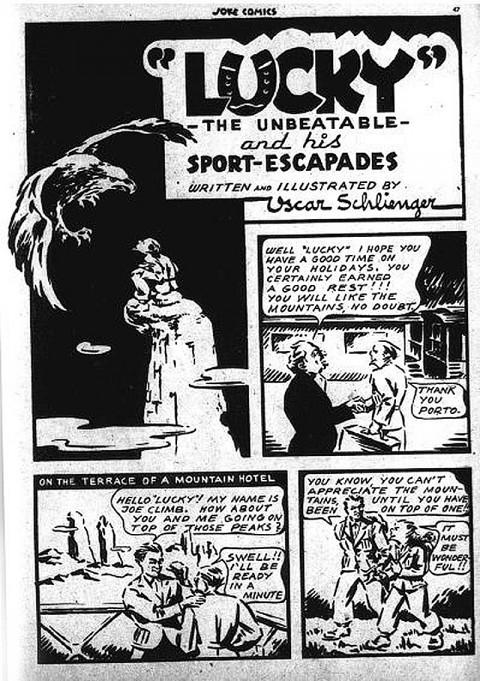 Lucky splash from Joke No. 4 (August? 1942)