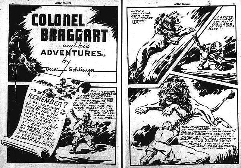 Splash page from Joke Comics No. 4