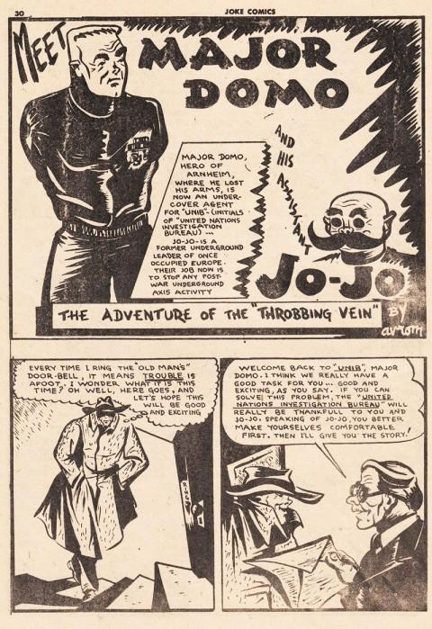 Introduction of Major Domo and Jo-Jo from Joke Comics No. 21