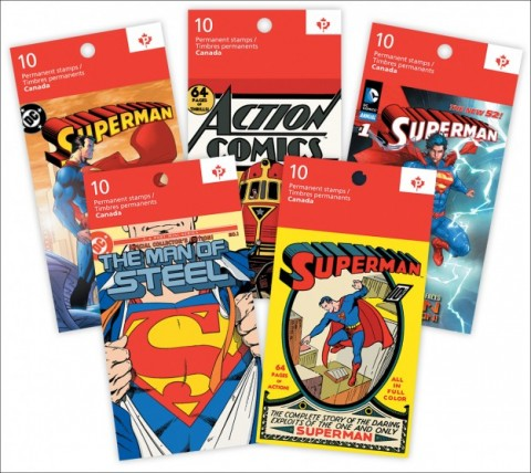Canada Post Superman Anniversary Stamp Booklets