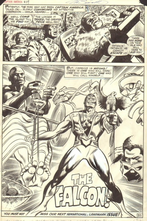 Captain America issue 117 page by Gene Colan and Joe Sinnott.  Source.