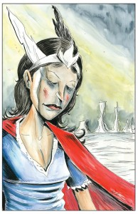 Nelvana of the Northern Lights Kickstarter Incentive by Jeff Lemire