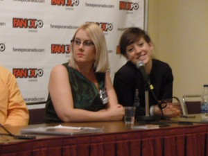 Hope Nicholson (left) and Rachel Richey (right) on the Comic Whites Panel at Fan Expo