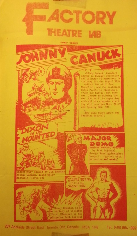 Hurray for Johnny Canuck Poster