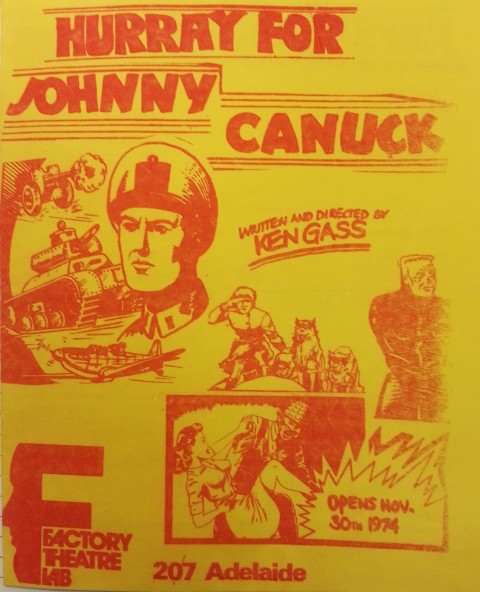 Hurray for Johnny Canuck Programme Cover
