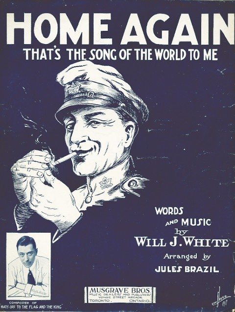 """Home Again"" song sheet from 1917"