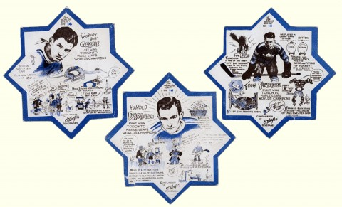 Three Maple Leafs stars.