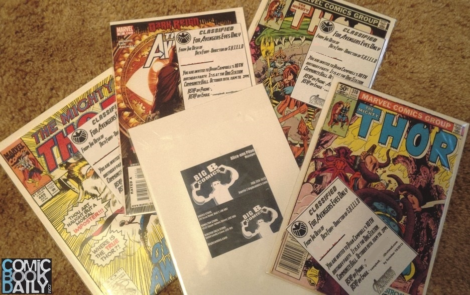 Getting Crafty With Comics – Invitations