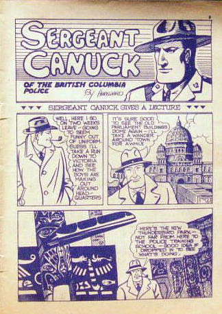 Ward's version of Sgt. Canuck from p. 1 of Bing Bang Comics No. 2