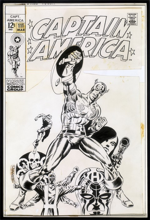 Captain America issue 111 cover by Jim Steranko.  Source.