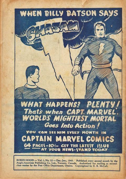 Robin Hood Comics Vol. 1 No. 12