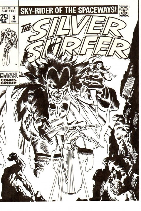 Silver Surfer issue 3 cover recreation by John Buscema