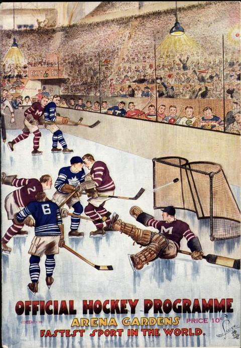 Arena Gardens program 1930