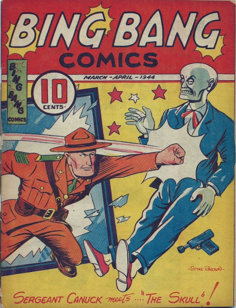 Bing Bang Comics V. 2 No. 5 cover by Spike Brown