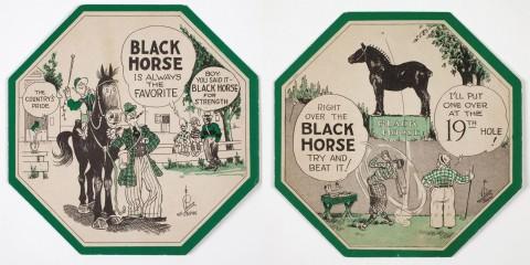 Black Horse coasters.
